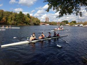 W1 IV+ boating at HOCR, Oct 2014.