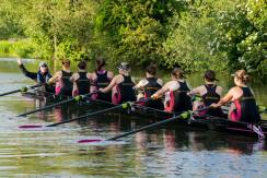 W1 wait for the start cannon, and the start of the May Bumps 2015 © Giorgio Divitini